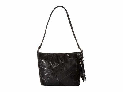 The Sak - The Sak Black Multi Patch İndio Leather Demi Shoulder Bag
