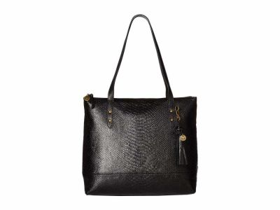 The Sak - The Sak Black Onyx Exotic Arriba Tote Handbag