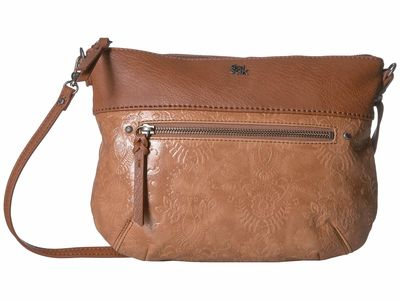 The Sak - The Sak Tobacco Floral Embossed Oleta Leather Clutch Cross Body Bag