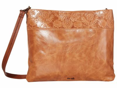 The Sak - The Sak Tobacco Floral Embossed Tommy Convertible Clutch Cross Body Bag
