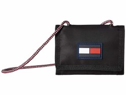 Tommy Hilfiger Black Leah Trifold Trifold Wallet - Thumbnail