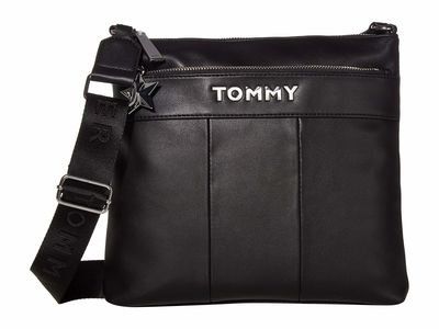 Tommy Hilfiger - Tommy Hilfiger Black Peyton Large North/South Cross Body Bag