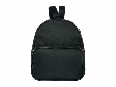 Tommy Hilfiger Black Taylor Smooth Nylon Mini Crossbody Backpack