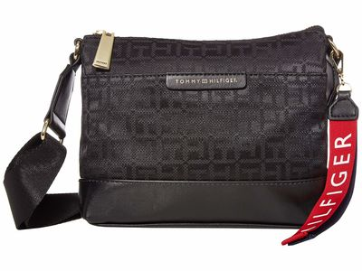 Tommy Hilfiger - Tommy Hilfiger Black Tonal Lottie Jacquard Cross Body Bag