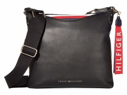 Tommy Hilfiger Black Walker Smooth Pvc Cross Body Bag - Thumbnail