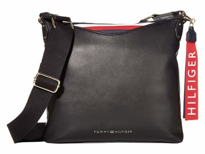 Tommy Hilfiger - Tommy Hilfiger Black Walker Smooth Pvc Cross Body Bag