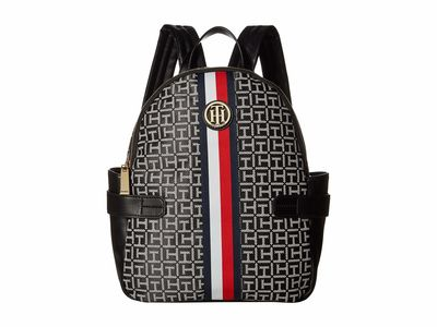 Tommy Hilfiger - Tommy Hilfiger Black/White Tami Monogram Backpack