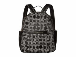 Tommy Hilfiger Black/White Holborn Monogram Backpack - Thumbnail
