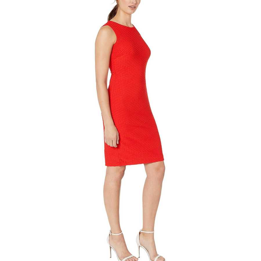 Tommy Hilfiger Cherry Tidal Knit Sheath Dress