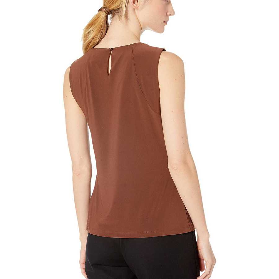 Tommy Hilfiger Coffee Bead Neck Knit Top