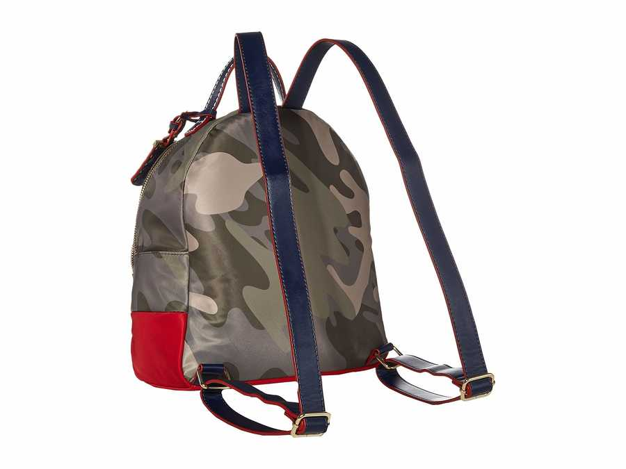 Tommy Hilfiger Green Julia Smooth Nylon Dome Backpack