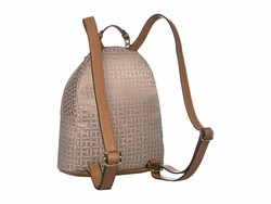 Tommy Hilfiger Khaki Tonal Claudia Jacquard Dome Backpack - Thumbnail