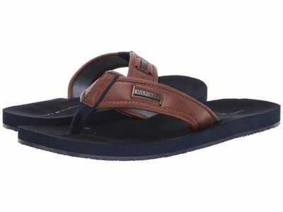 Tommy Hilfiger - Tommy Hilfiger Men Brown Dulaney2 Flip Flops