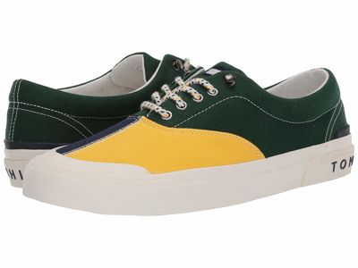 Tommy Hilfiger - Tommy Hilfiger Men Green/Yellow Thflag Lifestyle Sneakers
