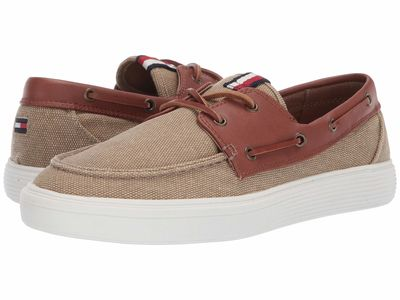 Tommy Hilfiger - Tommy Hilfiger Men Light Natural Moxley Boat Shoes