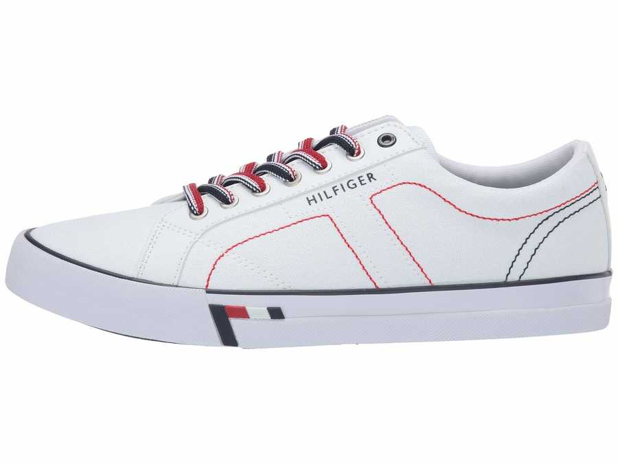 Tommy Hilfiger Men White Rue Lifestyle Sneakers