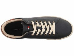 Tommy Hilfiger Men's Navy/Sudan Brown Lutwin Sneakers Athletic Shoes - Thumbnail