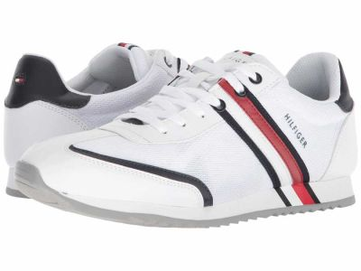 Tommy Hilfiger - Tommy Hilfiger Men's White/Chili Pepper Fella Sneakers Athletic Shoes