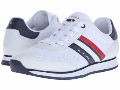 Tommy Hilfiger - Tommy Hilfiger Men's White Mallorca Sneakers Athletic Shoes