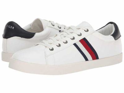 Tommy Hilfiger - Tommy Hilfiger Men's White Navy Ziggy Lifestyle Sneakers