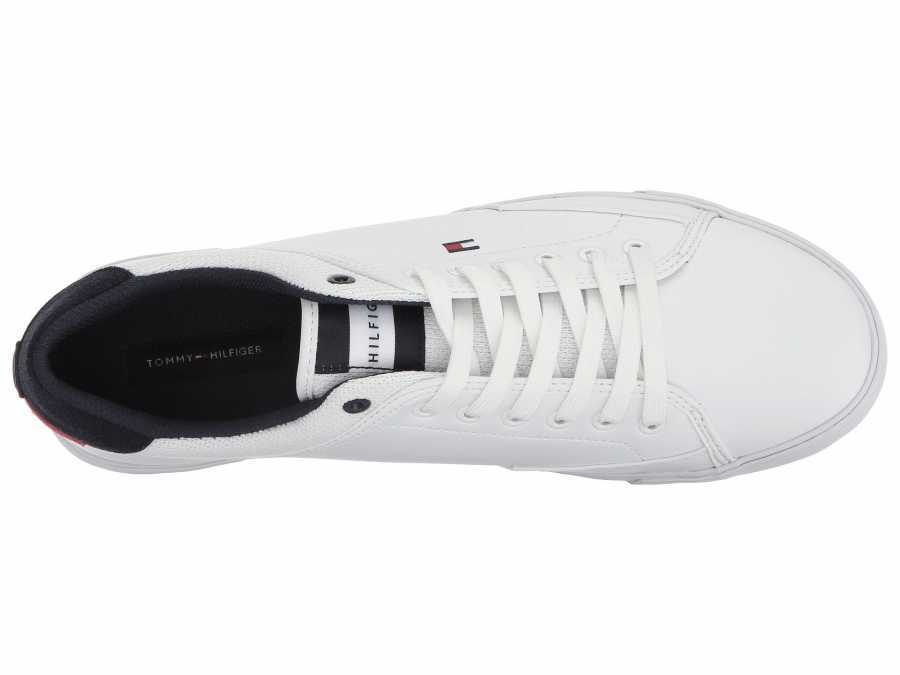 Tommy Hilfiger Men's White Ness Sneakers Athletic Shoes
