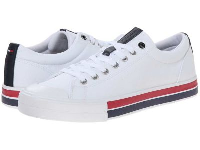 Tommy Hilfiger - Tommy Hilfiger Men's White Reno Sneakers Athletic Shoes 857113214