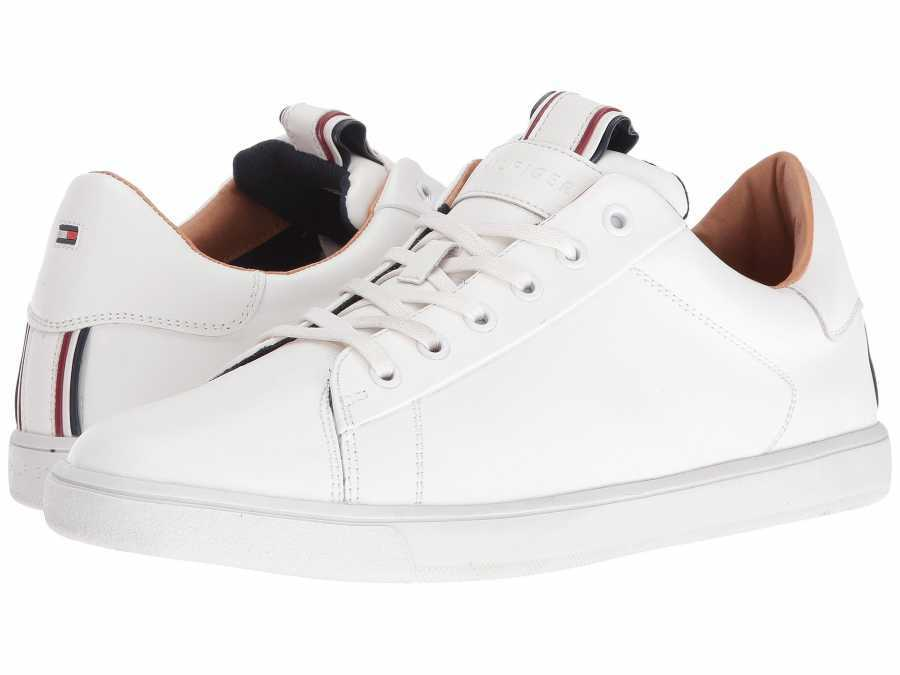 Tommy Hilfiger Men′s White Russ2 Sneakers Athletic Shoes