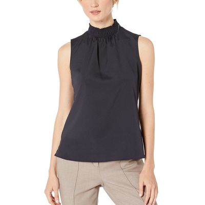 Tommy Hilfiger - Tommy Hilfiger Midnight Mock Neck Sleeveless Woven Top