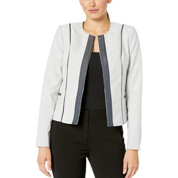 Tommy Hilfiger Natural Multi Short Jacket With Contrast Trim - Thumbnail