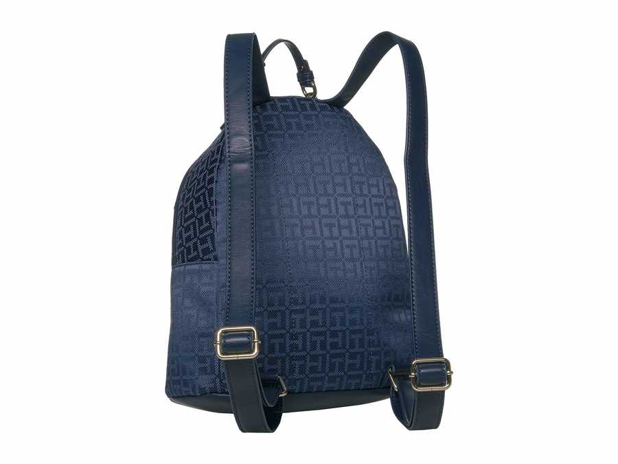Tommy Hilfiger Navy Tonal 2 Claudia Jacquard Dome Backpack