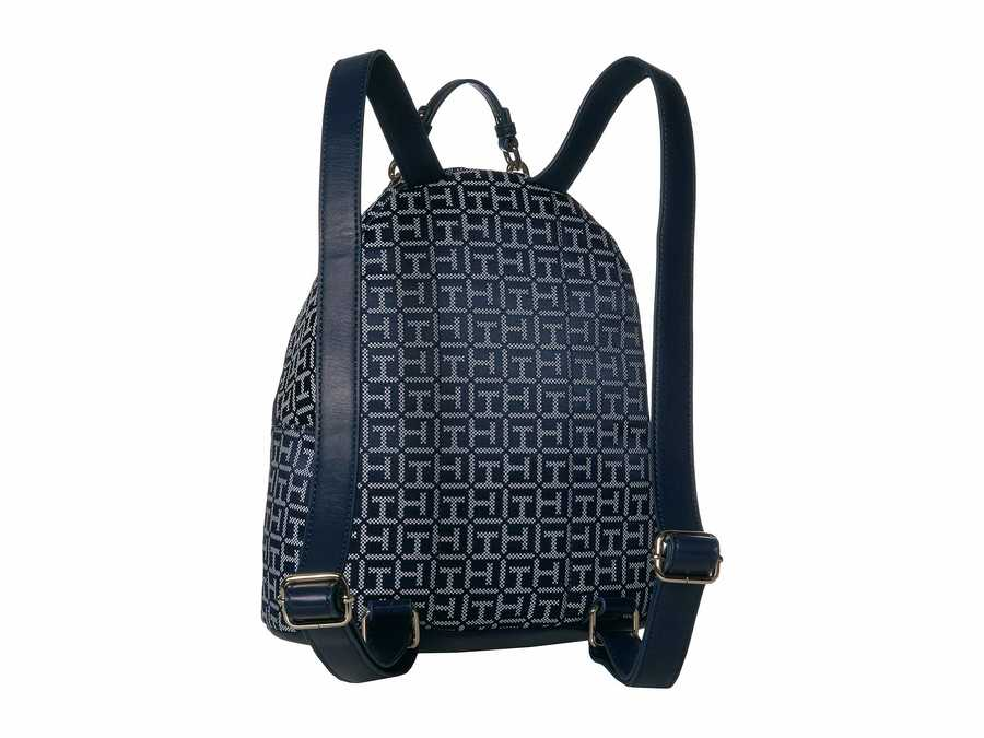 Tommy Hilfiger Navy Tonal Claudia Jacquard Dome Backpack