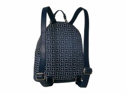 Tommy Hilfiger Navy Tonal Claudia Jacquard Dome Backpack - Thumbnail