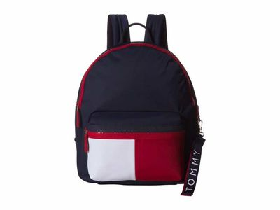 Tommy Hilfiger - Tommy Hilfiger Navy/Red/White Leah Dome Backpack