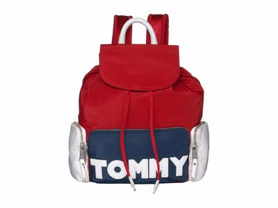 Tommy Hilfiger - Tommy Hilfiger Navy/Red/White Tommy Nylon Backpack