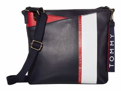 Tommy Hilfiger - Tommy Hilfiger Navy/Red/White Ruby Large North/South Cross Body Bag