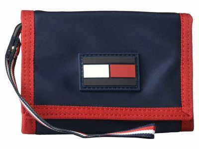 Tommy Hilfiger - Tommy Hilfiger Navy/Red Leah Trifold Wallet Tri-Fold Wallet