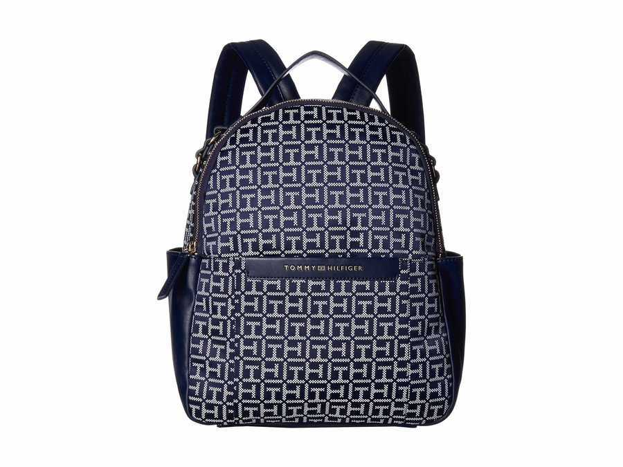 Tommy Hilfiger Navy/White Holborn Monogram Backpack