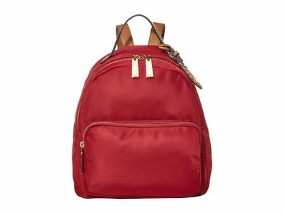 Tommy Hilfiger - Tommy Hilfiger Rhubarb Julia Smooth Nylon Dome Backpack