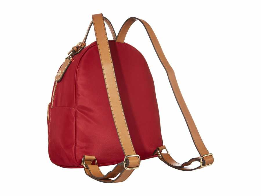 Tommy Hilfiger Rhubarb Julia Smooth Nylon Dome Backpack