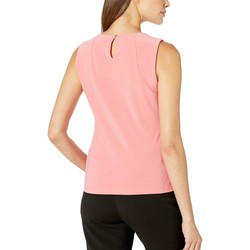 Tommy Hilfiger Rose Bead Neck Sleeveless Knit Top - Thumbnail