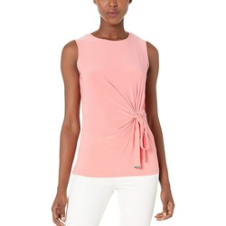 Tommy Hilfiger Rose Tie Waist Sleeveless Knit Top - Thumbnail