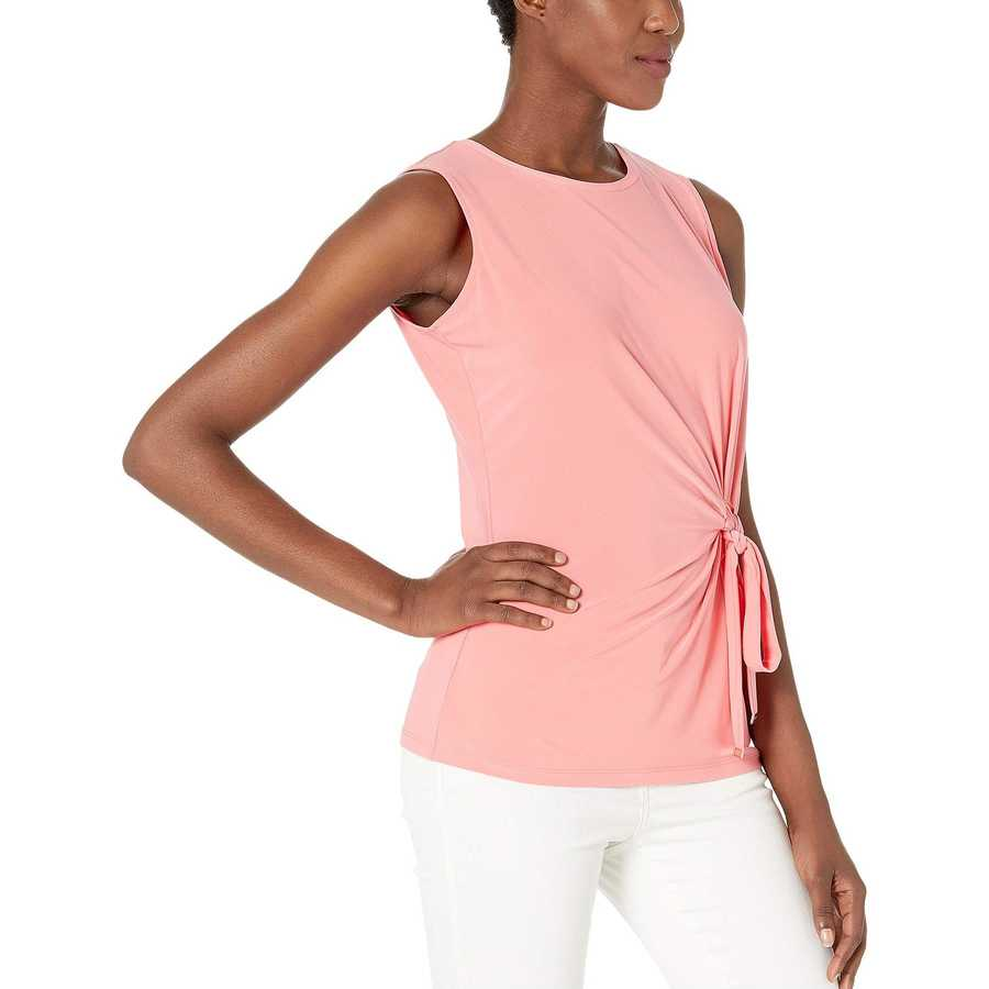 Tommy Hilfiger Rose Tie Waist Sleeveless Knit Top
