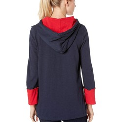 Tommy Hilfiger Sky Captain Hoodie Popover Top - Thumbnail