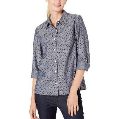Tommy Hilfiger - Tommy Hilfiger Sky Captain Multi Cotton Blouse Long