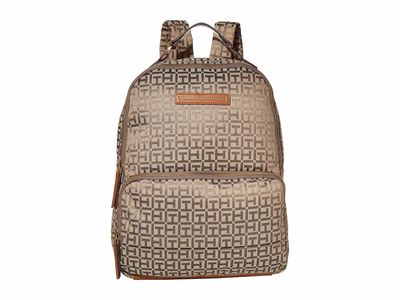 Tommy Hilfiger - Tommy Hilfiger Tan Dark Chocolate Alva Large Backpack