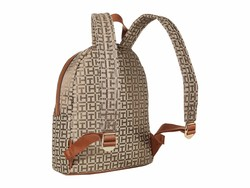 Tommy Hilfiger Tan Dark Chocolate Virden Backpack - Thumbnail