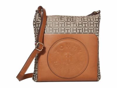 Tommy Hilfiger - Tommy Hilfiger Tan Dark Chocolate Virden Cross Body Bag