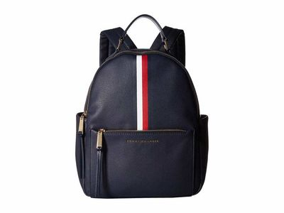 Tommy Hilfiger - Tommy Hilfiger Tommy Navy Althea Pebble Pvc Backpack