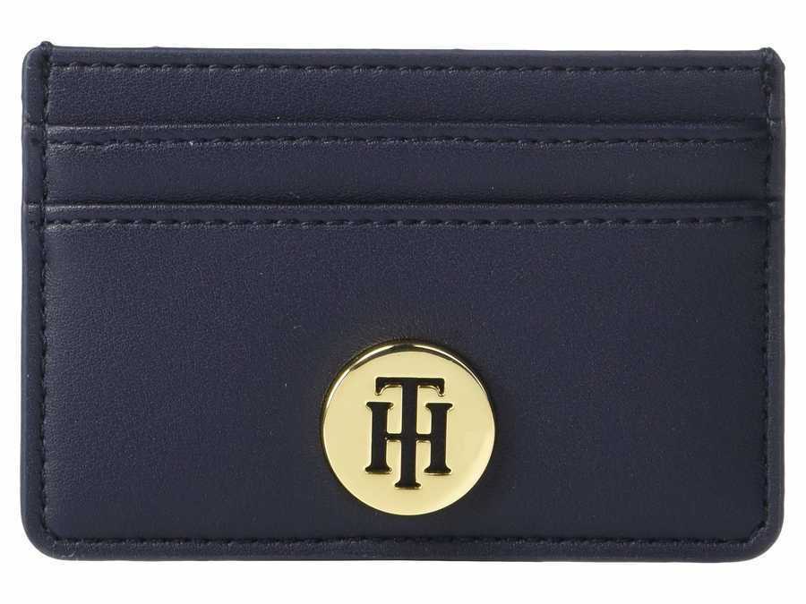 Tommy Hilfiger Tommy Navy Serif Credit Card Holder Coin Card Case