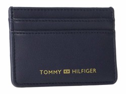 Tommy Hilfiger Tommy Navy Serif Credit Card Holder Coin Card Case - Thumbnail